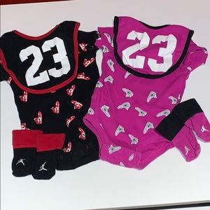 Air Jordan matching set for babies - Bibs, socks
